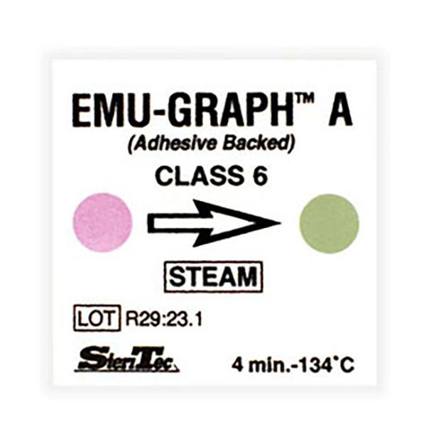 اندیکاتور شیمیایی کلاس ۶ بخار پشت چسبدار با سیکل اجرا ۴ دقیقه