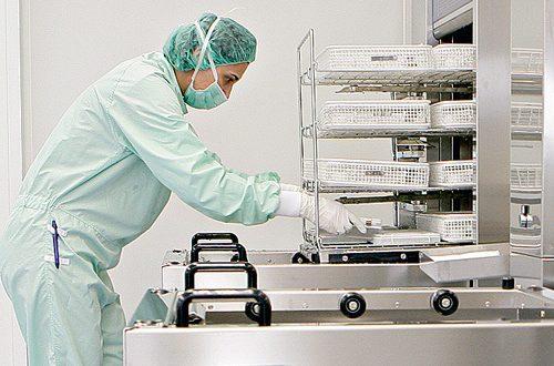 استریل ابزار جراحی در بیمارستان